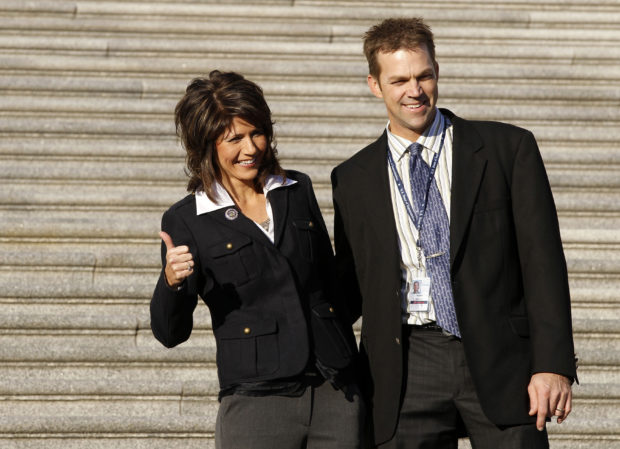 New House of Representative member Kristi Noem poses on steps of U.S. Capitol in Washington