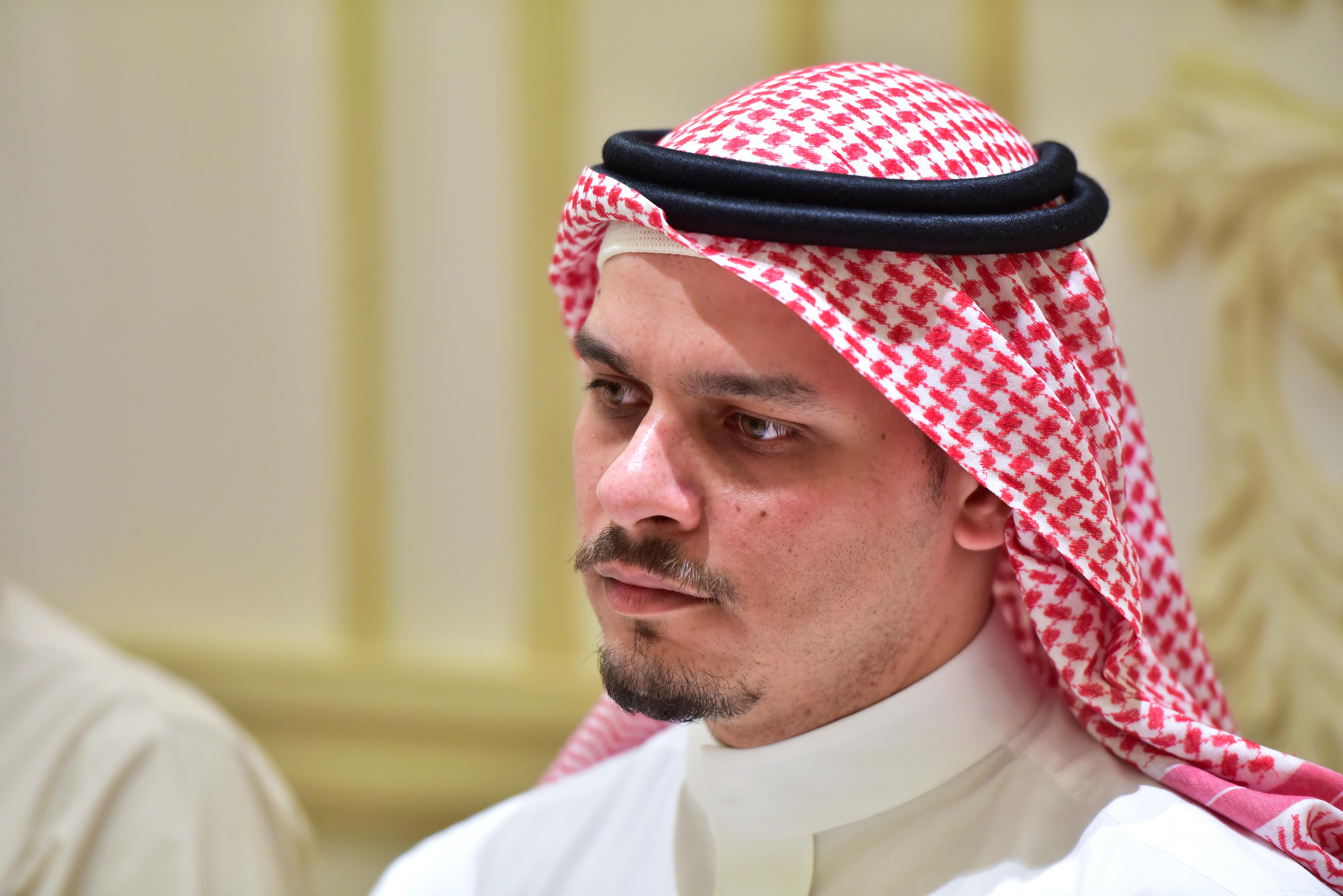 Salah Khashoggi, son of Saudi journalist Jamal Khashoggi, looks on as mourners offer condolences in Jeddah, Saudi Arabia November 16, 2018. REUTERS/Waleed Ali.
