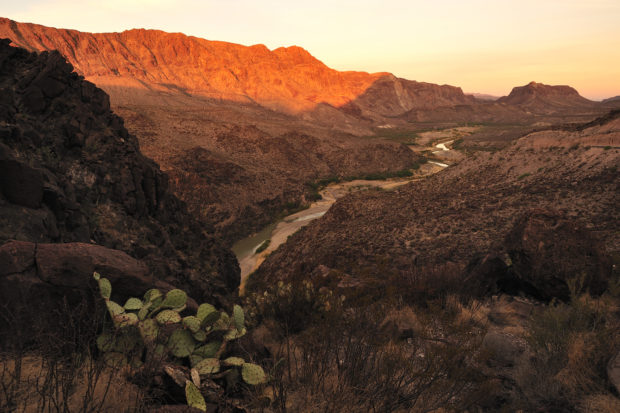 The Rio Grande, along the Texas-Mexico border in Big Bend national park. (Shutterstock/ T photography)