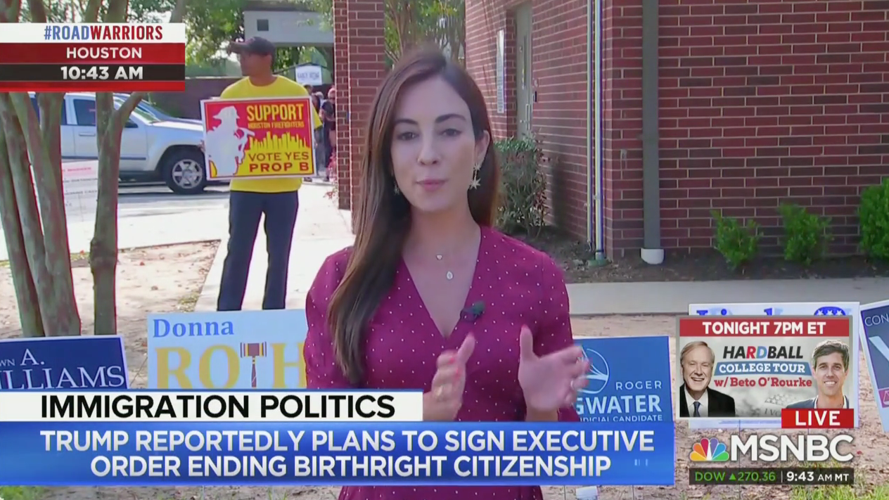 Mariana Atencio Reports From Houston (MSNBC Screenshot)