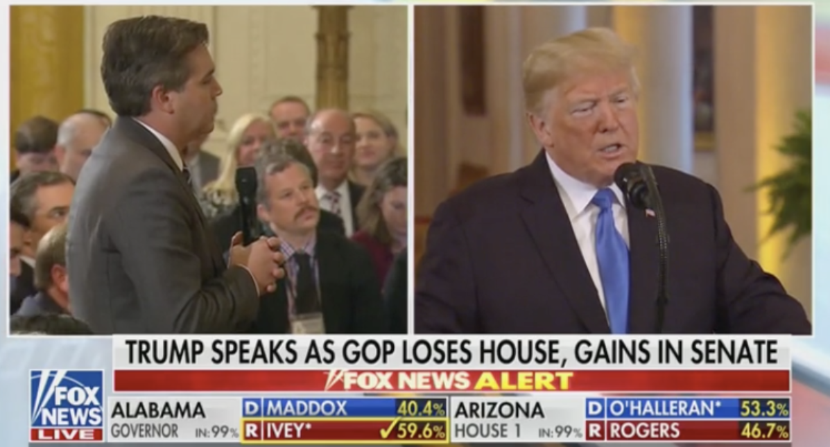 CNN's Jim Acosta and President Trump (Fox News 11/7/2018)