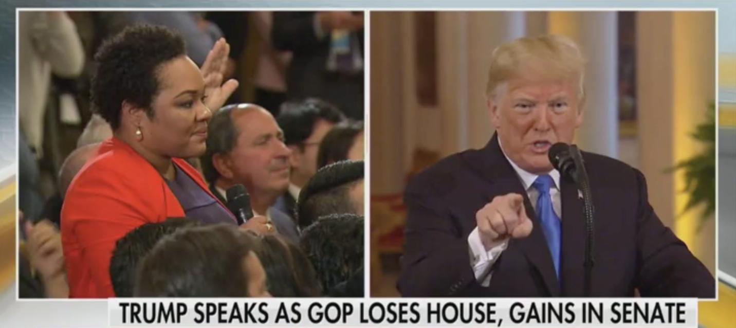 Trump Reporter Asking 'Racist' Question [Screenshot/FOX News]