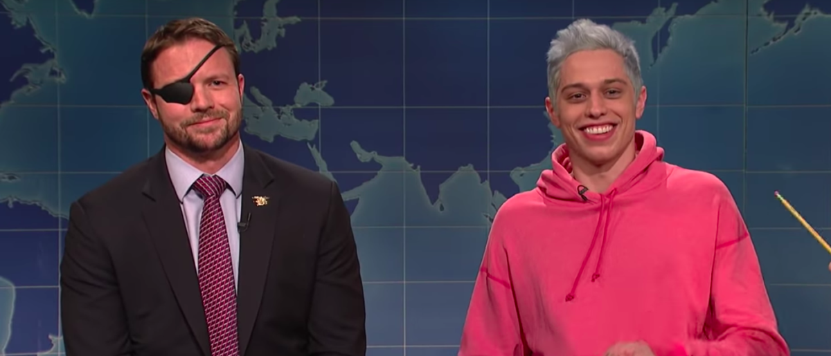 Dan Crenshaw with Pete Davidson on 'Saturday Night Live' [YouTube/screen shot]