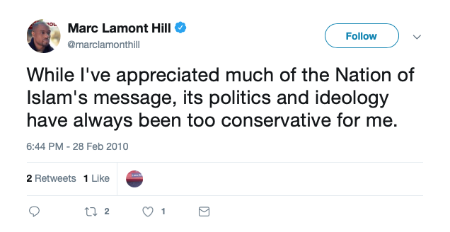 Marc Lamont Hill on Nation of Islam (Twitter Screenshot)