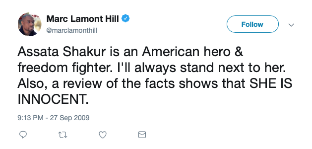 Marc Lamont Hill on Assata Shakur (Twitter Screenshot)