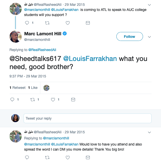 Marc Lamont Hill on Louis Farrakhan (Twitter Screenshot)
