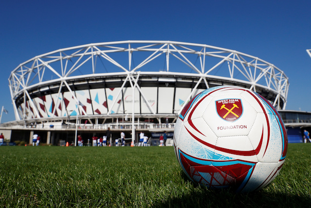 Soccer Football - Premier League - West Ham United v Tottenham Hotspur - London Stadium, London, Britain - October 20, 2018 General view of a ball outside the stadium before the match Action Images via Reuters/Matthew Childs