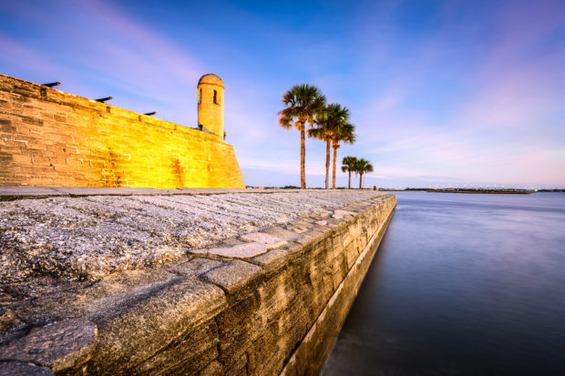 St. Augustine, Florida at the Castillo de San Marcos National Monument. (Shutterstock/Sean Pavone)