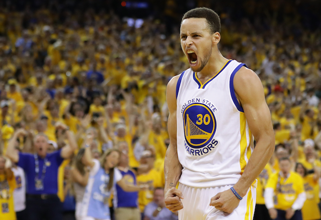 Steph Curry in Game Seven of the Western Conference Finals during the 2016 NBA Playoffs at ORACLE Arena on May 30, 2016 in Oakland, California. (Photo: Getty Images)