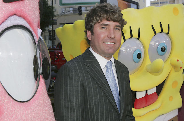 "Director Stephen Hillenburg attends the film premiere of ""The Spongebob Squarepants Movie"" at the Grauman's Chinese Theatre November 14, 2004 in Los Angeles, California. (Photo by Mark Mainz/Getty Images)"
