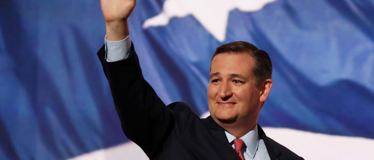 Sen. Ted Cruz (R-TX) waves to the crowd as he walks on stage to deliver a speech on the third day of the Republican National Convention on July 20, 2016 at the Quicken Loans (Chip Somodevilla/Getty Images)