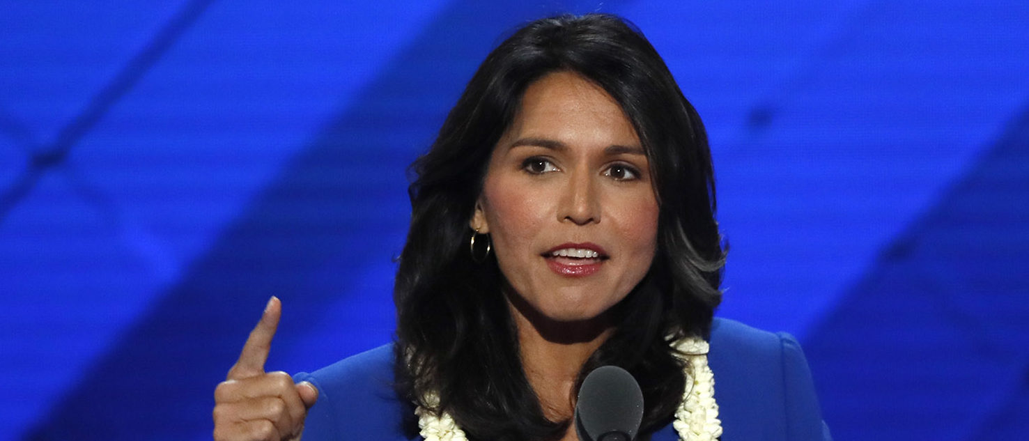 U.S. Representative Tulsi Gabbard (D-HI) delivers a nomination speech for Senator Bernie Sanders on the second day at the Democratic National Convention in Philadelphia, Pennsylvania, U.S. July 26, 2016. REUTERS/Mike Segar