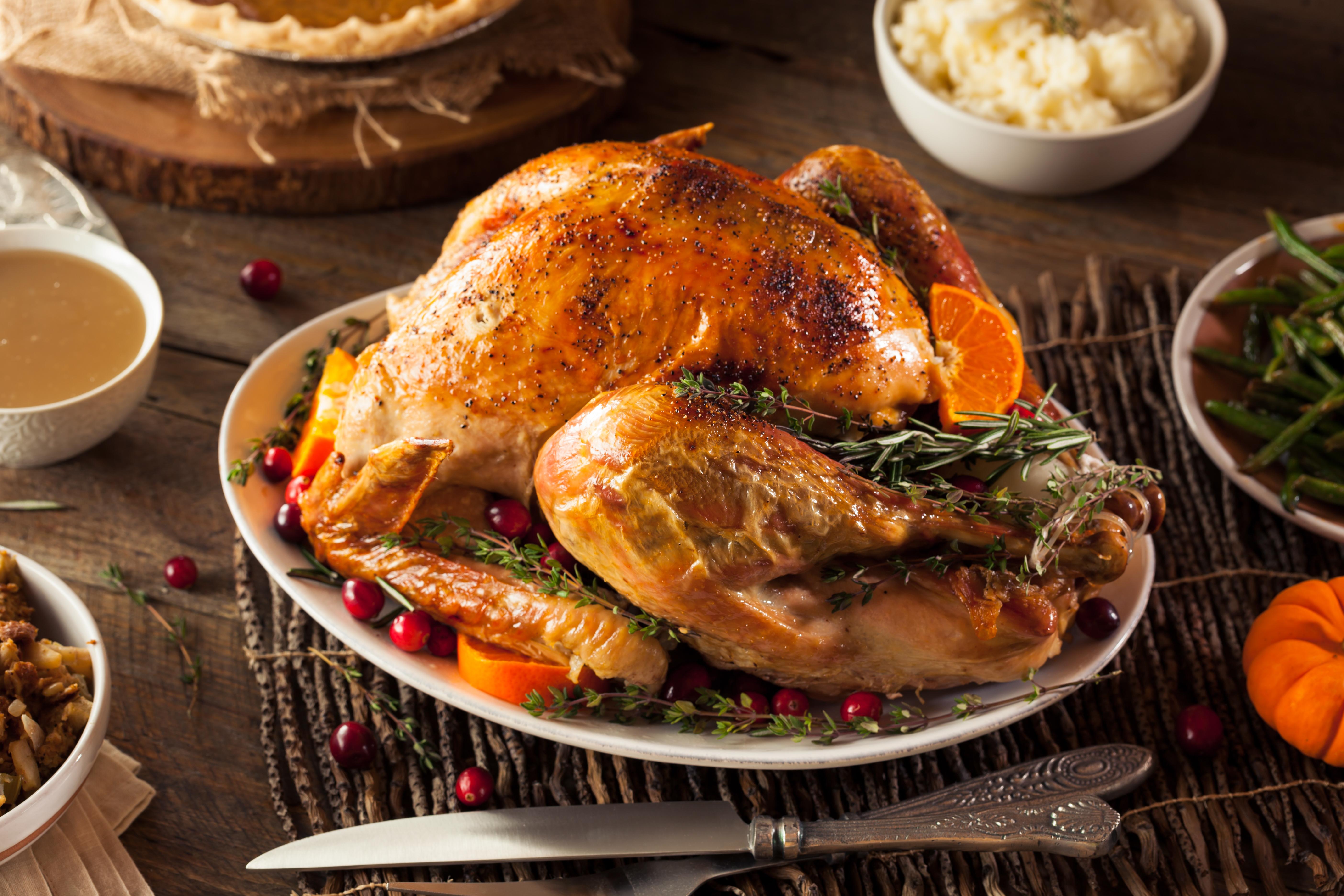 Homemade roasted Thanksgiving Day turkey. SHUTTERSTOCK/ Brent Hofacker