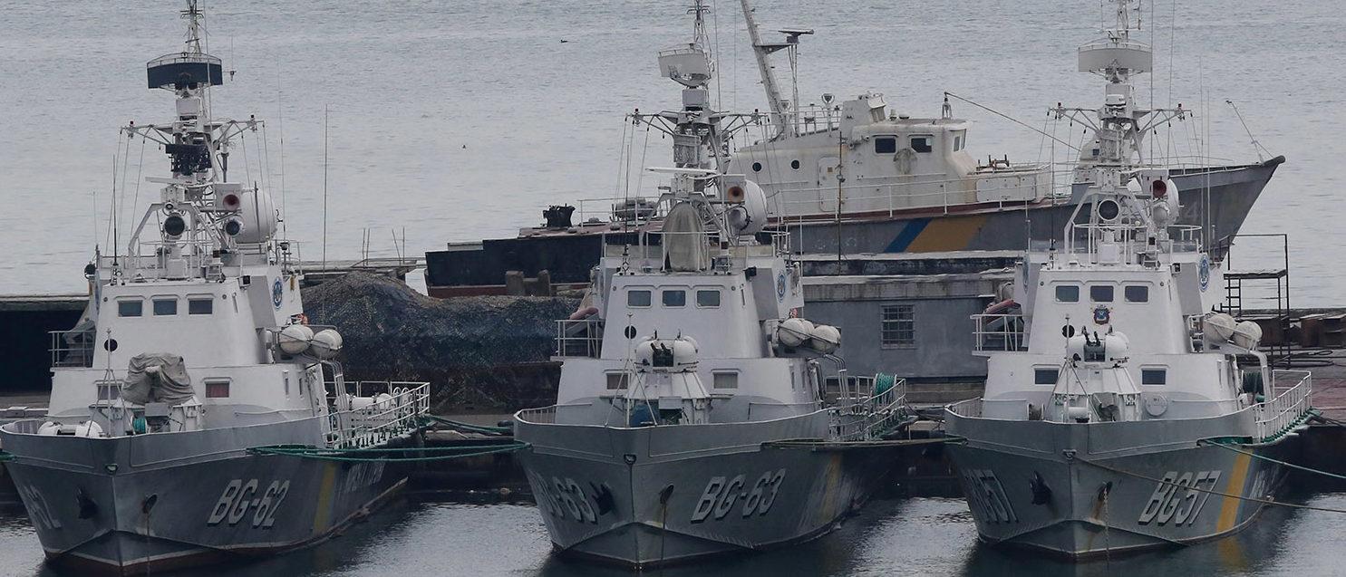 Ukrainian border guard boats are docked in the Black Sea port of Odessa, Ukraine November 26, 2018. REUTERS/Yevgeny Volokin