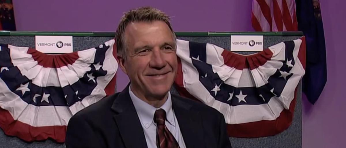 Pictured is Vermont Gov. Phil Scott. (YouTube screenshot/Vermont PBS)