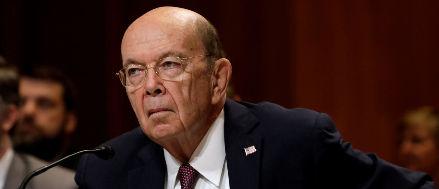 Commerce Secretary Wilbur Ross testifies before a Senate Commerce, Justice, Science, and Related Agencies Subcommittee hearing on the FY2019 funding request and budget justification for the Commerce Department on Capitol Hill in Washington. REUTERS/Yuri Gripas