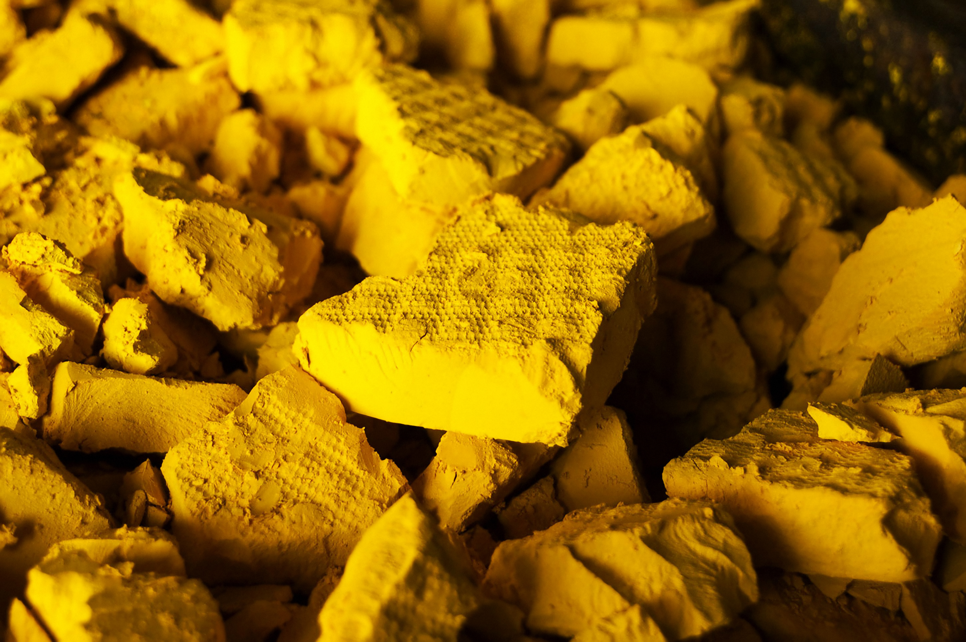 A photo of yellow cake uranium, a solid form of uranium oxide produced from uranium ore. (Nuclear Regulatory Commission via Flickr creative commons) https://creativecommons.org/licenses/by/2.0/