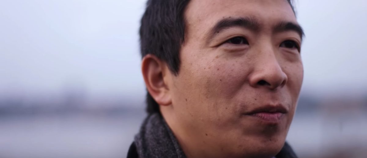 Pictured is Democratic 2020 candidate Andrew Yang. Screenshot/YouTube/Andrew Yang 2020