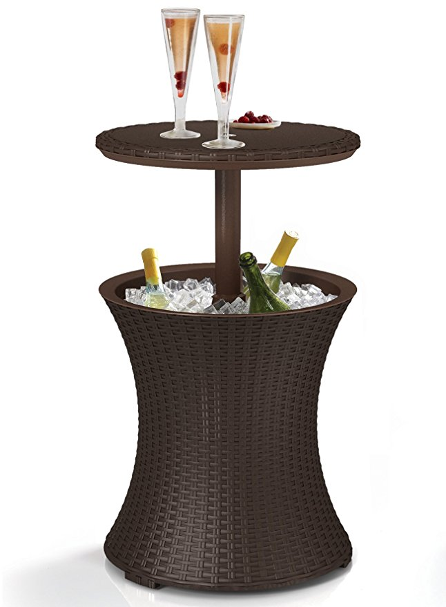 Normally $58, this #1 bestselling patio cooler table is 30 percent off today (Photo via Amazon)