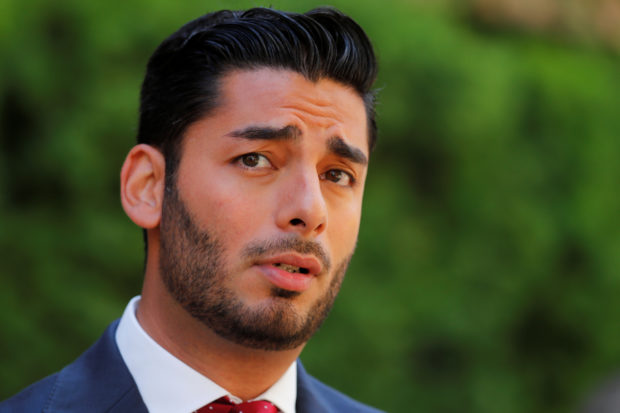 Democratic candidate for the 50th congressional district Ammar Campa Najjar makes an appearance outside federal court where incumbent Duncan Hunter (R-CA) and his wife were being arraigned in San Diego, California, U.S. August 23, 2018. REUTERS/Mike Blake
