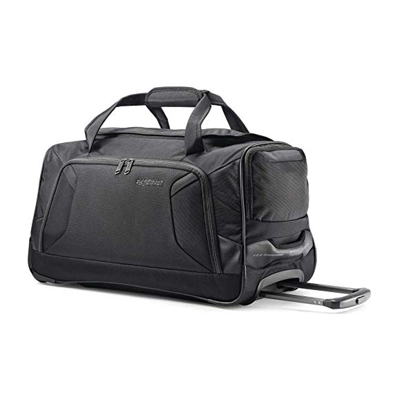 Normally $85, this rolling duffel is 44 percent off (Photo via Amazon)