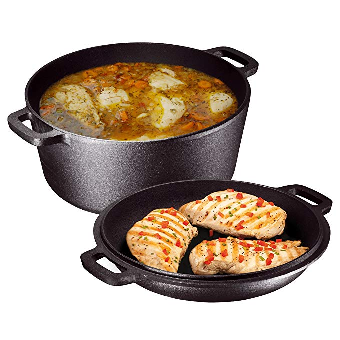 Normally $42, this 2-in-1 dutch oven is 29 percent off today (Photo via Amazon)