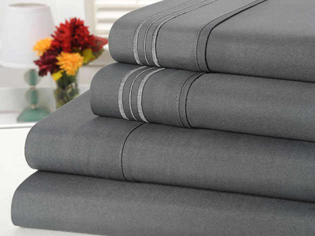 Normally $110, this 4-piece sheet set is 63 percent off