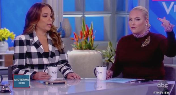 "Sunny Hostin argues with Meghan McCain on ABC's ""The View,"" 11/7/18/Screen Shot"