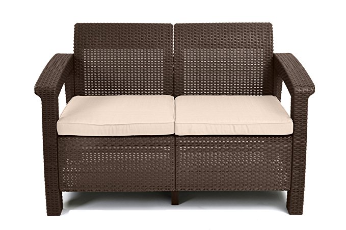 Normally $200, this patio love seat is 60 percent off today (Photo via Amazon)