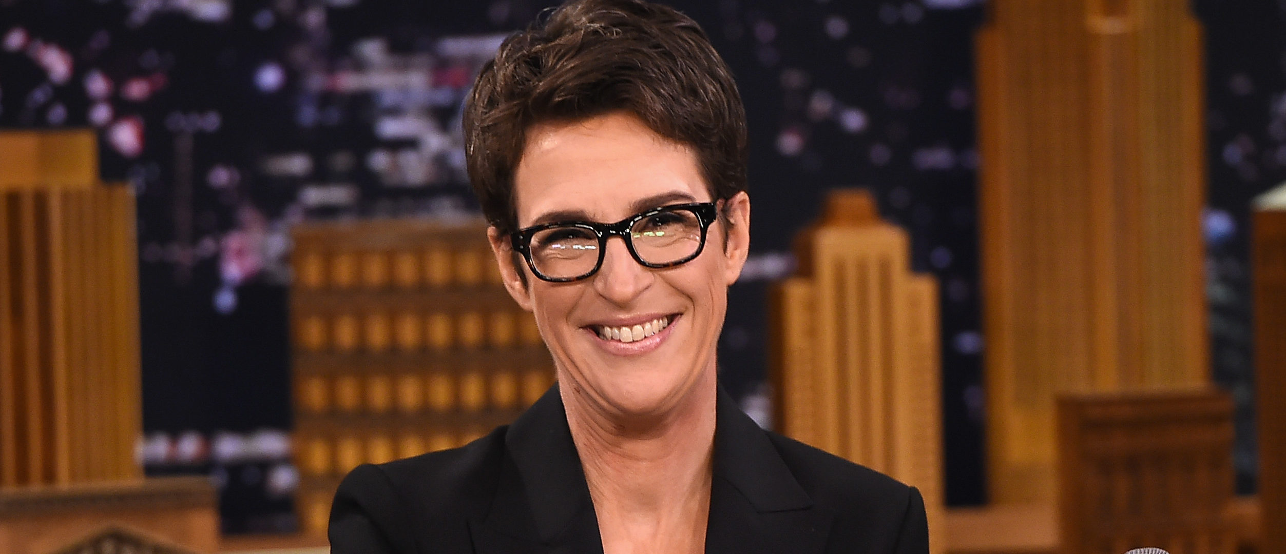"Rachel Maddow Visits ""The Tonight Show Starring Jimmy Fallon"" at Rockefeller Center on March 15, 2017 in New York City. (Photo by Theo Wargo/Getty Images for NBC)"