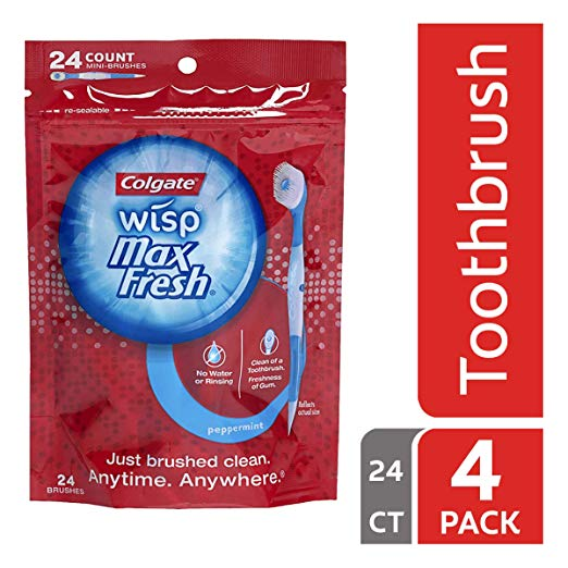 Normally $32, this 24-count of disposable toothbrushes are 62 percent off today (Photo via Amazon)