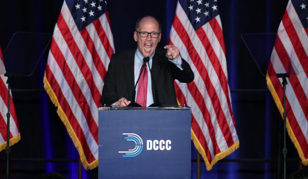 Democratic National Commitee (DNC) Chairman Tom Perez reacts to the results of the U.S. midterm elections as he speaks at a Democratic party election night rally in Washington, U.S. November 6, 2018. REUTERS/Jonathan Ernst