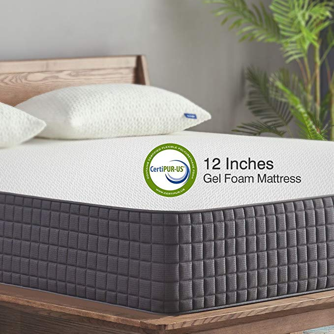 Normally $568, this 12-inch memory foam mattress is 32 percent off today (Photo via Amazon)