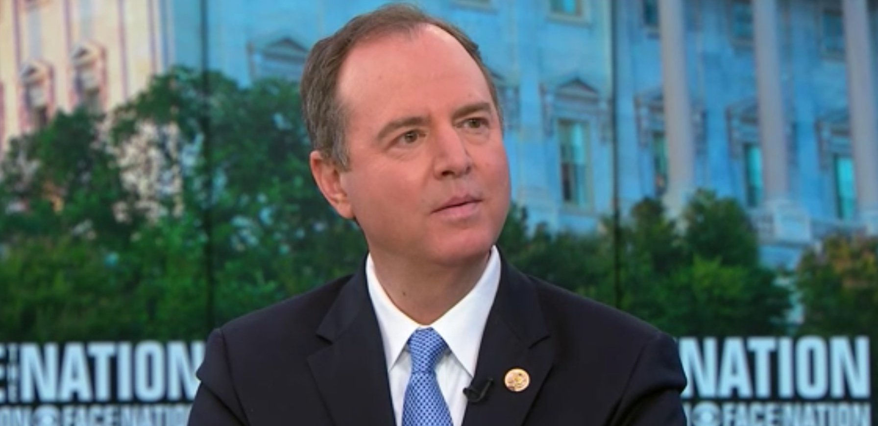 Democratic Rep. Adam Schiff appears on Face the Nation, Dec. 9, 2018. CBS Screenshot.