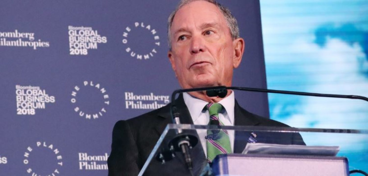 Businessman and former New York City Mayor Michael Bloomberg speaks at the opening of the Bloomberg Global Business Forum in New York, U.S., September 26, 2018. REUTERS/Shannon Stapleton