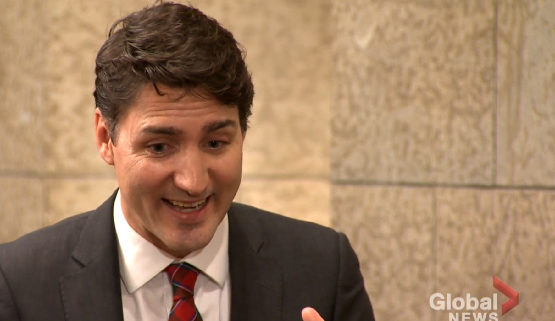 Canadian Prime Minister Justin Trudeau is interviewed by Global News, Dec. 21, 2018. Global News screenshot.