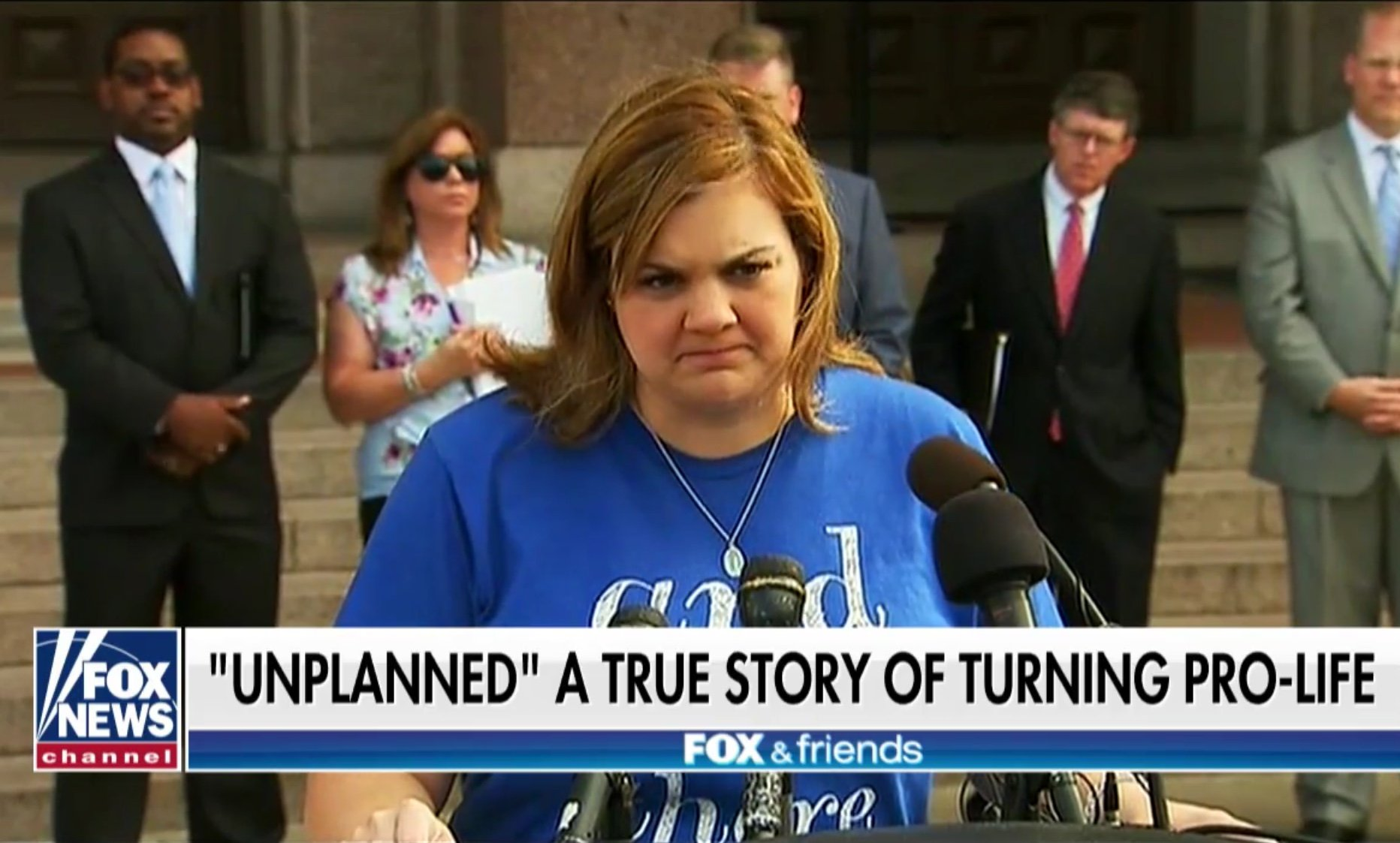 Former Planned Parenthood employee turned pro-life activist Abby Johnson speaks to reporters. Fox News screenshot, Dec. 18, 2018.