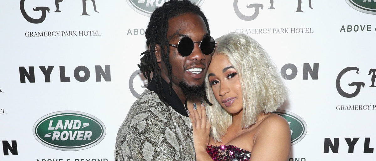 NEW YORK, NY - SEPTEMBER 12: Offset (L) and Cardi B attend NYLON's Rebel Fashion Party, powered by Land Rover, at Gramercy Terrace at Gramercy Park Hotel on September 12, 2017 in New York City. (Photo by Rob Kim/Getty Images)