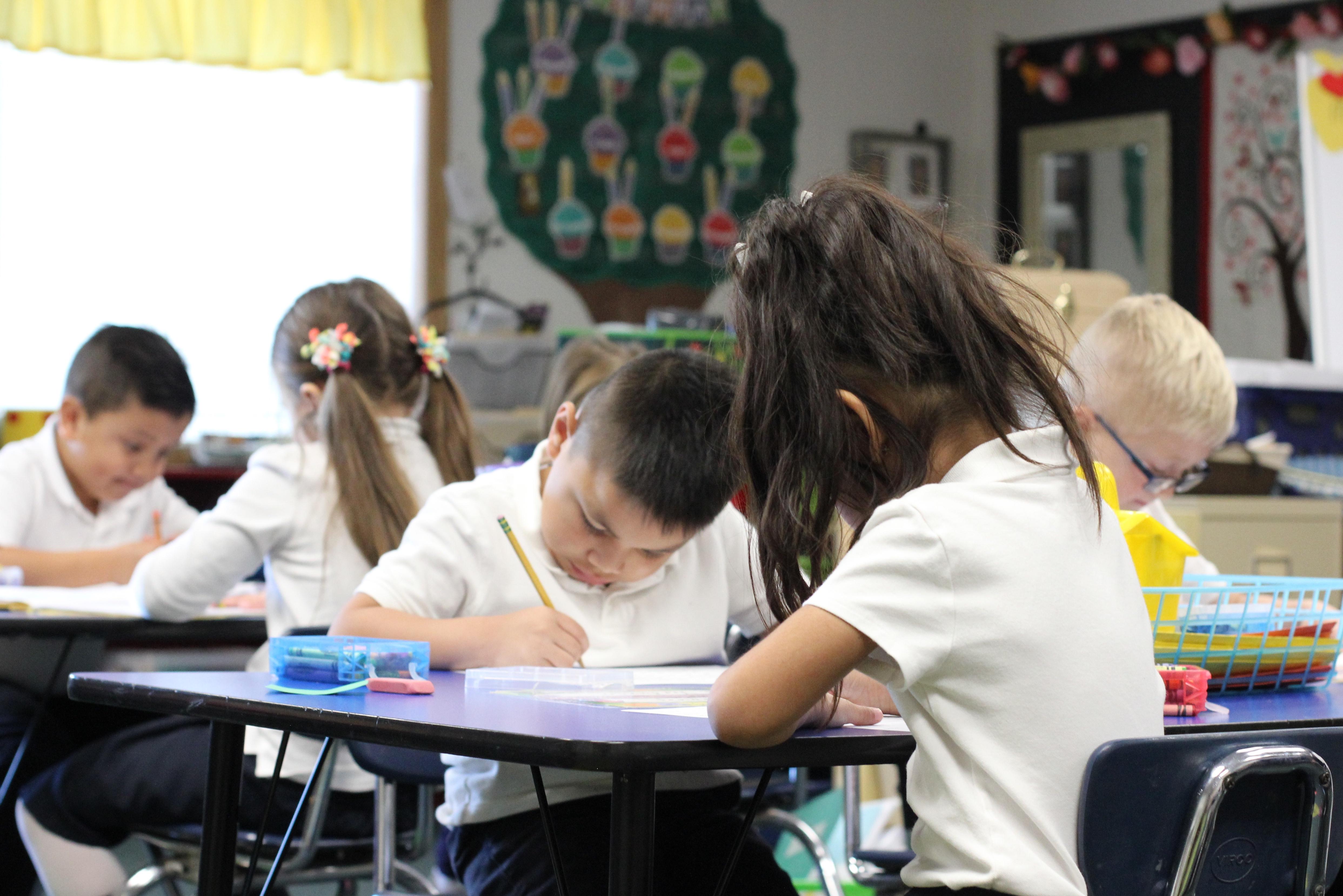 A Catholic School Room (Shutterstock/ Michelle Baumbach)