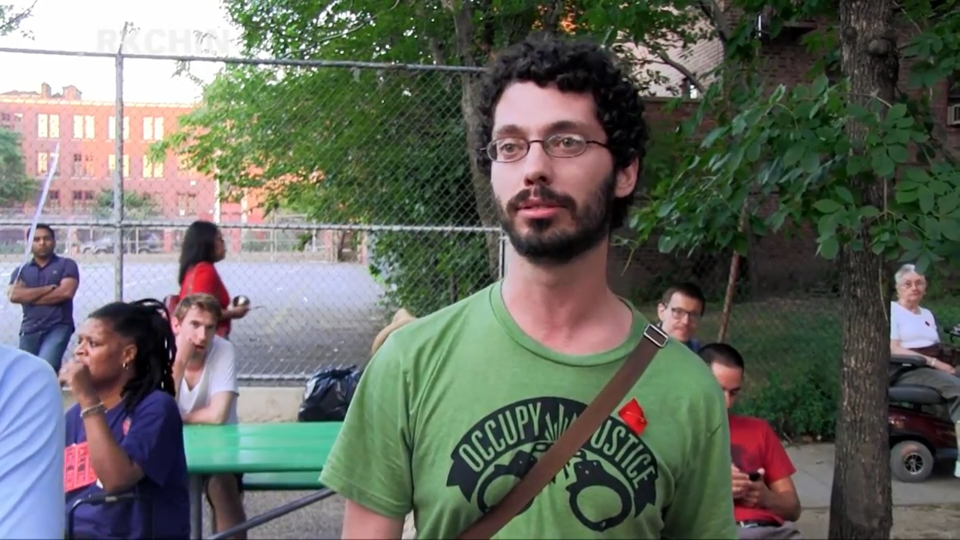 "'Chepe' Leading a ""know your rights"" legal training in Jackson Heights, Queens, July 22, 2012 (YouTube/Screenshot)"