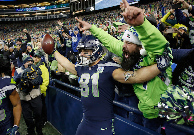 Seattle Seahawks during the second quarter of the game at CenturyLink Field on December 23, 2018 in Seattle, Washington. (Photo by Otto Greule Jr/Getty Images)