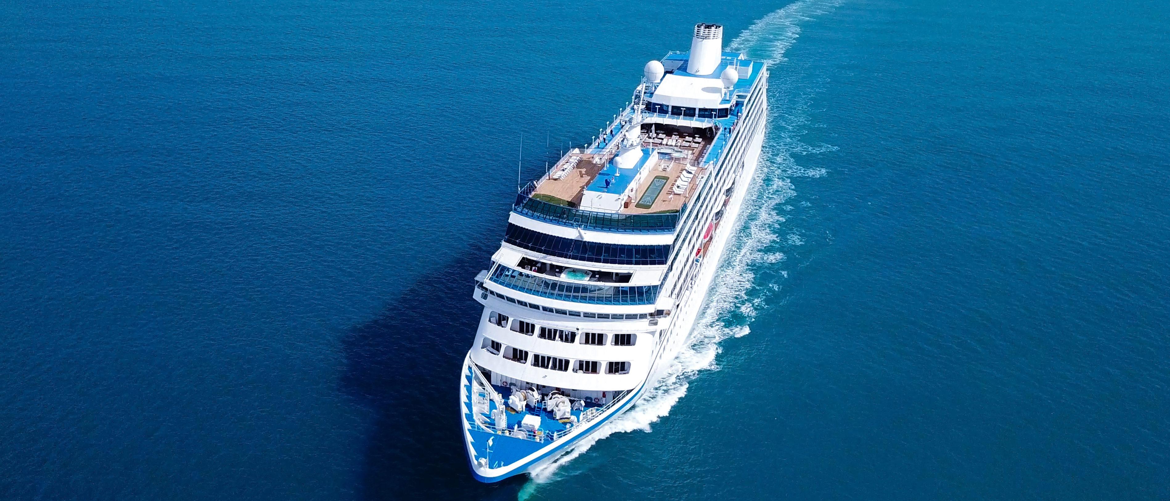 Cruise Ship on Ocean (Shutterstock/StockStudio)