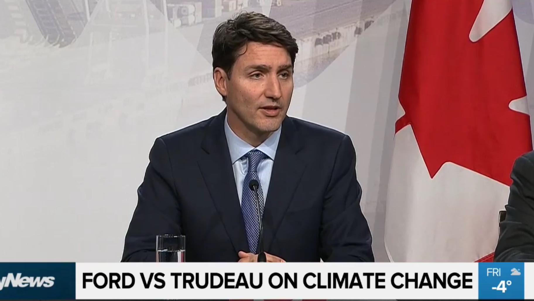Canadian Prime Minister peaks to the media following a First Minister's Meeting in Montreal, Dec. 7, 2018. City News screenshot.