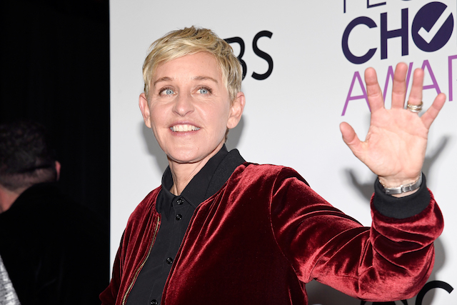 Ellen DeGenres poses in the press room during the People's Choice Awards 2017 at Microsoft Theater on January 18, 2017 in Los Angeles, California. (Photo: Getty Images)