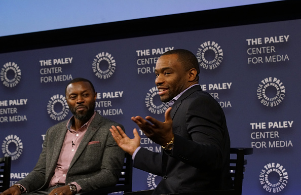 "NEW YORK, NY - DECEMBER 07: Executive producer Rob Hardy and moderator Marc Lamont Hill attends BET Presents ""An Evening With 'The Quad'"" At The Paley Center on December 7, 2016 in New York City. (Photo by Bennett Raglin/Getty Images for BET Networks)"