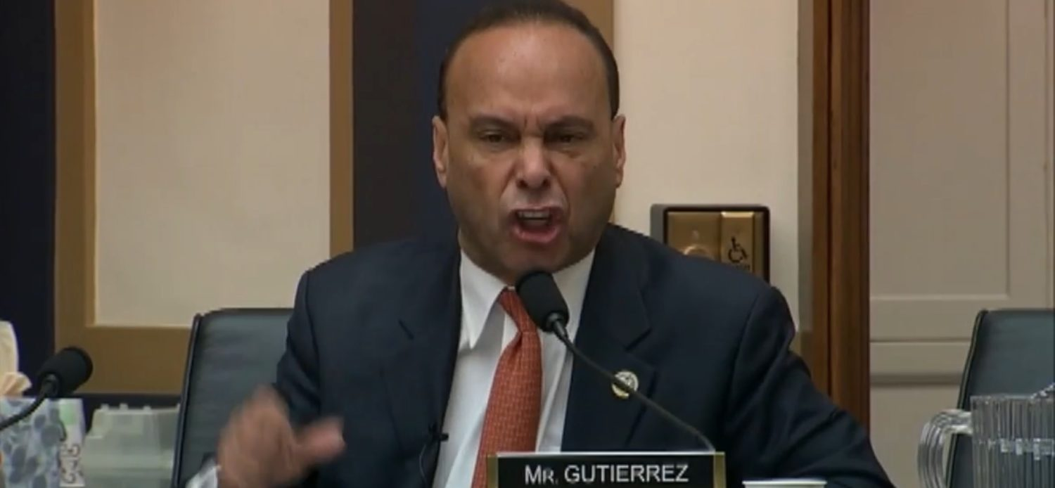 Illinois Democratic Rep. Luis Gutierrez berates DHS Secretary Kirstjen Nielsen at a House Judiciary Commmittee Meeting, Dec. 20, 2018. Fox News screenshot.