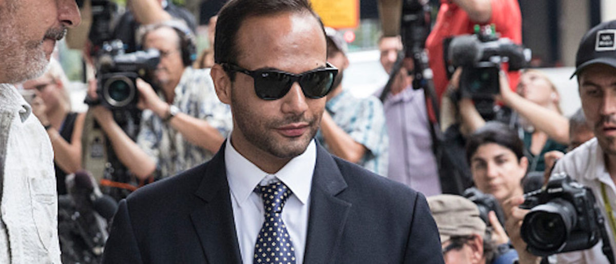 Former Trump Campaign aide George Papadopoulos leaves the U.S. District Court after his sentencing hearing on Sept. 7, 2018 in Washington, D.C. (Photo by Alex Wroblewski/Getty Images)