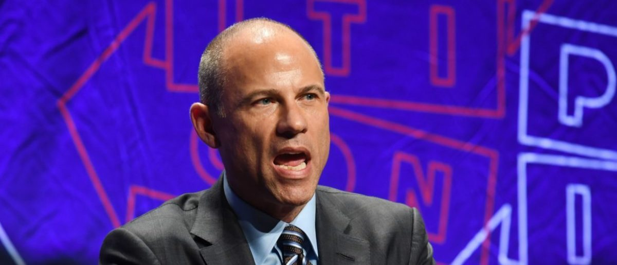 Attorney Michael Avenatti speaks at the 'How to Beat Trump' panel at the 2018 Politicon in Los Angeles, California on October 20, 2018. - The two day event covers all things political with dozens of high profile political figures. (Photo by Mark RALSTON / AFP)