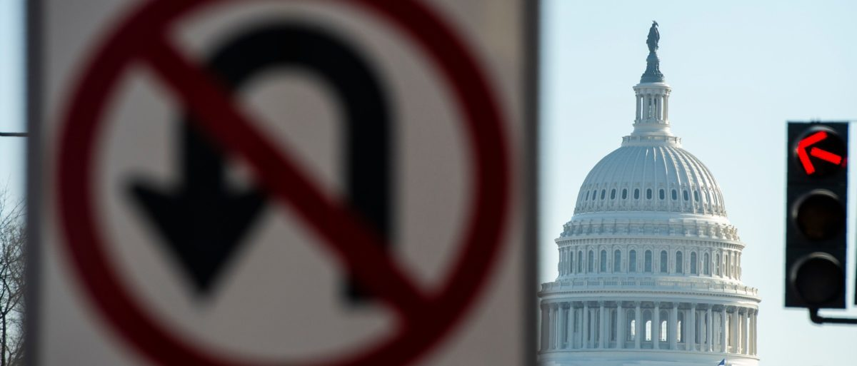 The US Capitol is seen during a government shutdown in Washington, DC, December 27, 2018. (ANDREW CABALLERO-REYNOLDS/AFP/Getty Images)