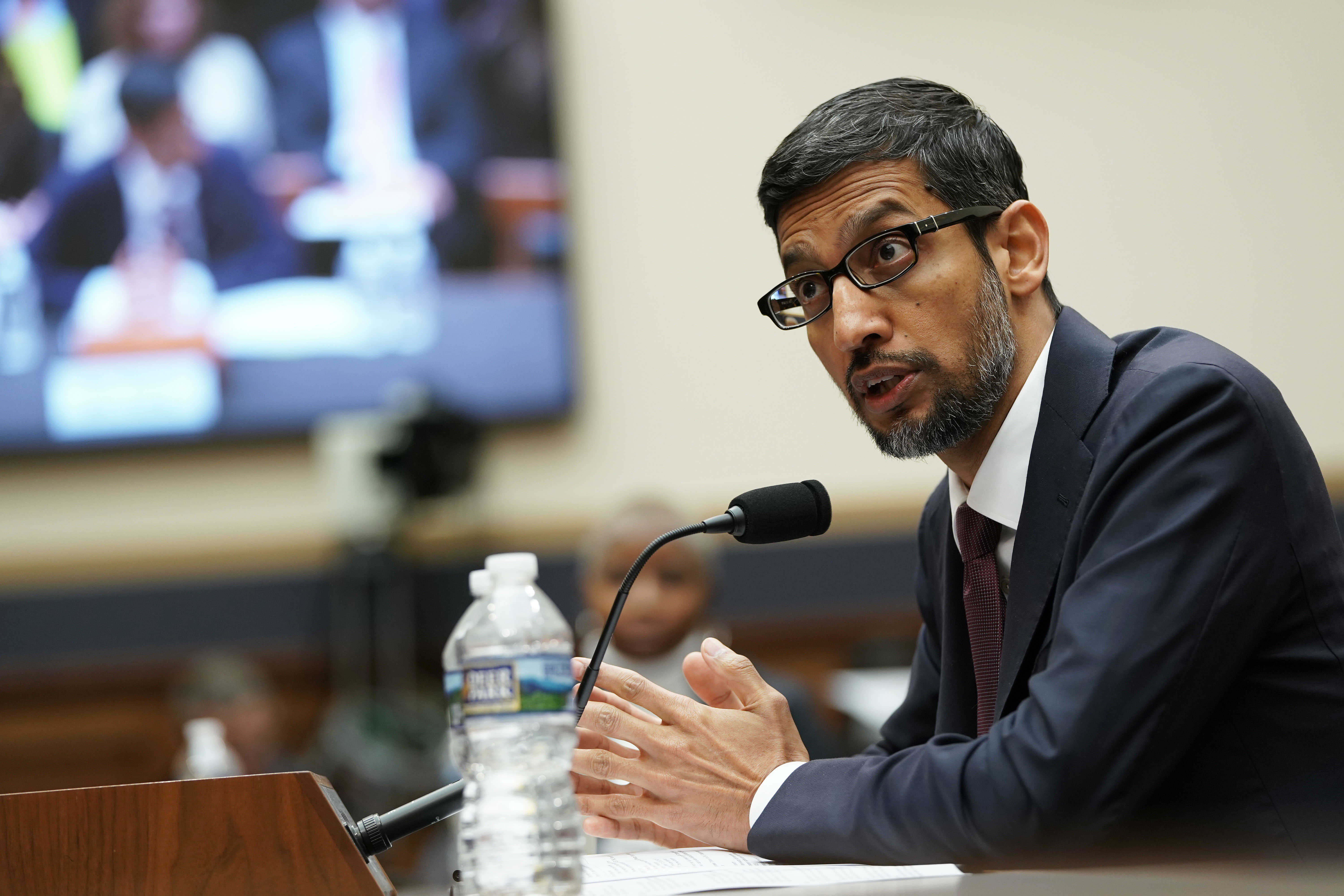 Google CEO Sundar Pichai testifies before the House Judiciary Committee at the Rayburn House Office Building on December 11, 2018 in Washington, DC. (Photo by Alex Wong/Getty Images)